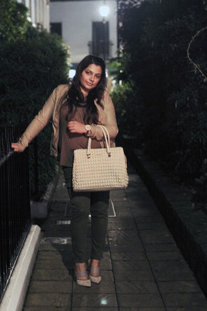 liu jo bag - rose gold Michael Kors watch - Sigerson Morrison heels