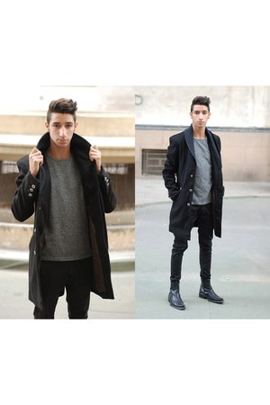 urbanoutfitters coat - Zara boots