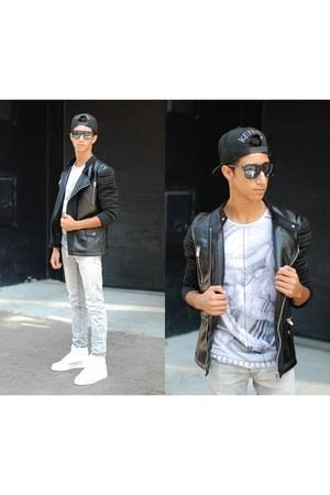 milanoo sneakers - April77 jeans - Zara t-shirt - Zara blouse
