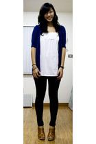 Forever21 - Space top - Plains & Prints leggings - Kawaii shoes - Movado