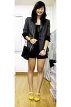 alex marie blazer - Mango - Space shorts - SO Fab - Bally - ichigo necklace