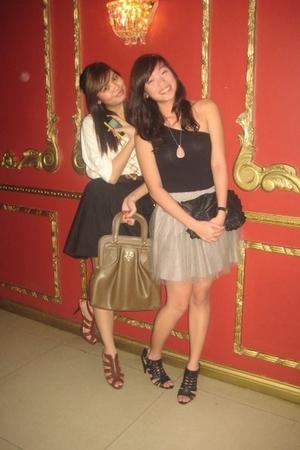 black Topshop purse - black Pill Shoes shoes - gray tutu skirt Gingersnaps
