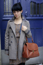 Light-brown-topshop-coat-navy-bata-shoes-tawny-topshop-bag-brown-zara-dres