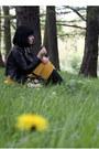 Mustard-coat-black-with-roses-vintage-bag-black-topshop-loafers