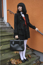 asos coat - Zara cardigan - vintage shoes - vintage bag - vintge accessories - t