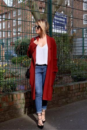 Zara jeans - Projekt Projekt sunglasses - Topshop heels - decjuba blouse