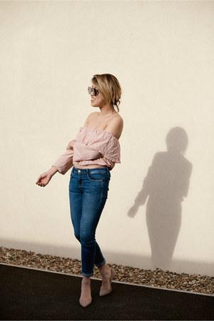 Zara jeans - asos top - Kurt Geiger heels