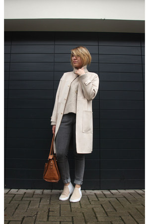 & other stories shoes - Zara coat - Vinnies jeans - & other stories jumper