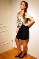 black Bata shoes - black H&M shorts - gold guess by marciano top - silver Jewelr