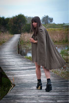 Maje coat - black Jeffrey Campbell shoes