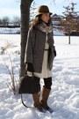 Zara-jacket-bcbg-dress-aldo-boots-louis-vuitton-bag