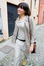 Beige-h-m-coat-gold-zary-shoes-beige-h-m-pants-brown-vintage-accessories