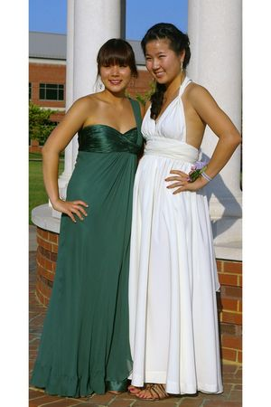 green Marc Bouwer Glam It dress - white homemade dress