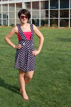 pink Forever 21 top - blue Betsys Things dress - brown Gloria Vanderbilt shoes -