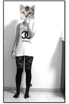 black Hong Kong socks - black lace leggings Forever 21 leggings