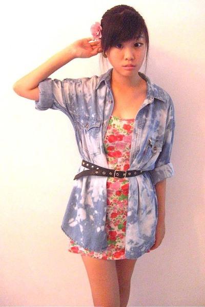 thrifted shirt - Dorothy Perkins dress - none accessories - GG5 belt