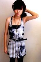 Zara shirt - Local store necklace - Mums belt