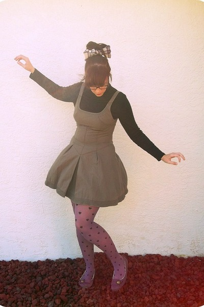 amethyst purple hearts xhilaration tights - brown free people dress