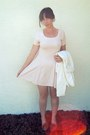Peach-gingham-vintage-dress-tawny-moccasins-target-shoes