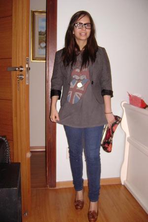 H&M blazer - Junk Food shirt - BDG jeans - Maria Bonita Extra shoes