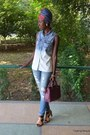 Sky-blue-new-yorker-jeans-white-new-yorker-shirt-hot-pink-meli-melo-scarf