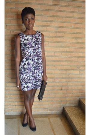 deep purple H&M dress