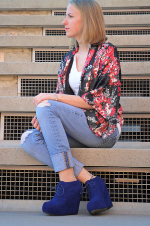 Forever21 cardigan - True Religion jeans - Glaze wedges