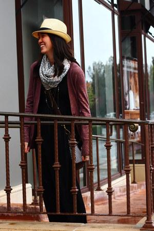 Forever 21 dress - Uniqlo hat - American Eagle scarf - Ruche bag - Ann Taylor Lo