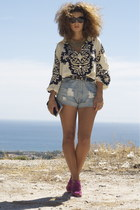 Oysho shorts - bag - Zara heels