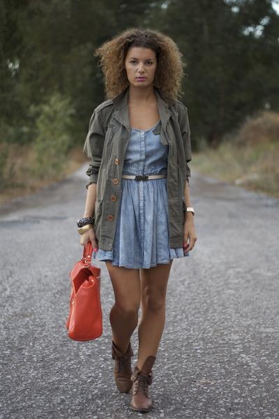 Zara dress - Massimo Dutti boots - Zara bag - Topshop belt