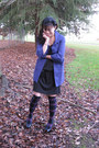 Black-casual-dress-juicy-couture-dress-amethyst-buttoned-jacket-kenzie-jacket-
