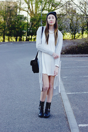 Glamorous bag - Shoe Zone boots - Glamorous dress - Primark hat
