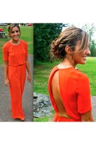 carrot orange jumpsuit BCBG jumper