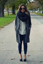 tuxedo coat Babaton coat - cowel Dylanium Knit scarf