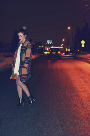 plaid vintage coat