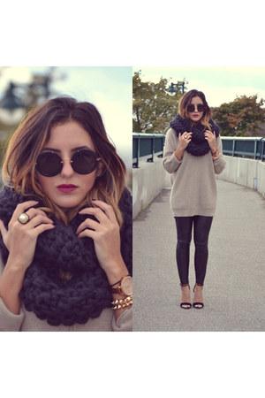 Dylanium Knit scarf - cashmere Club Monaco sweater - Miu Miu sunglasses