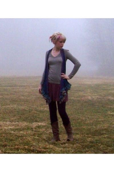 Gap sweater - forever 21 vest - American Apparel skirt - forever 21 leggings - S