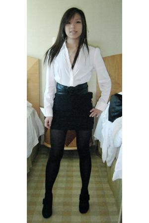 Express shirt - H&M skirt - Bamboo shoes - Charlotte Russe belt - H&M tights