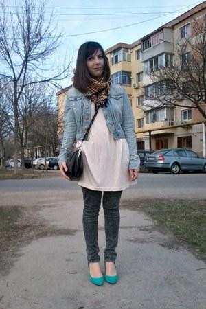 Zara jeans - H&M jacket - H&M blouse