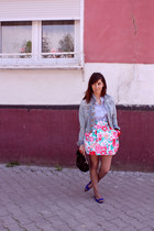 H&M jacket - sonia rykiel pout H&M bracelet - Zara skirt