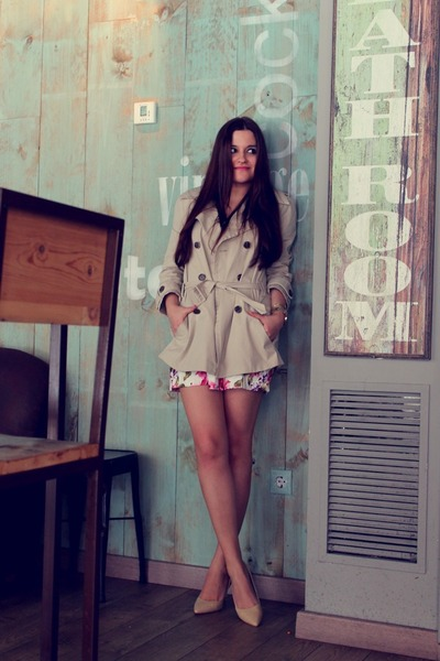Zara coat - Missguided dress