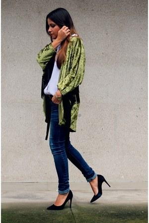 chartreuse velvet Lol & Tonic jacket - black Zara heels