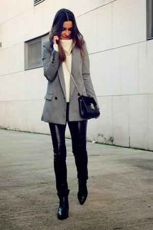 silver Mango blazer - black H&M pants