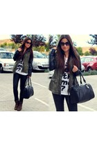 suiteblanco coat - Marypaz boots - Zara t-shirt