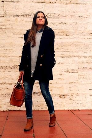 periwinkle H&M sweater - navy H&M coat