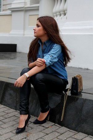 sky blue chicnova blouse - black Tally Weijl pants