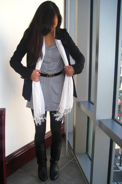H&M jacket - crossroads shirt - ferragamo belt - vintage boots