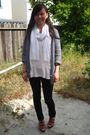 Pink-h-m-shirt-brown-cynthia-vincent-x-target-shoes-gray-juicy-couture-cardi