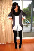 black Forever21 scarf - gray Nordstrom BP blazer - black H&M pants - black Nine