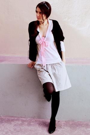 Zara top - Pimkie skirt - asos jacket - next shoes - next accessories - H&M tigh